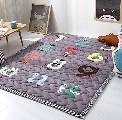 Zinsale Grande Addensare Baby Playmat cotone Palestra del pavimento Asilo nido Pad attività Tappeto strisciante (Numero)