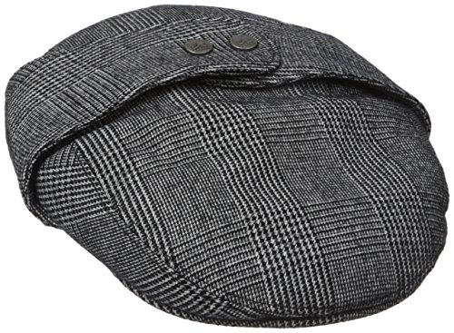 Kangol Men's Tweed Bugatti, Night Watch Plaid, Medium