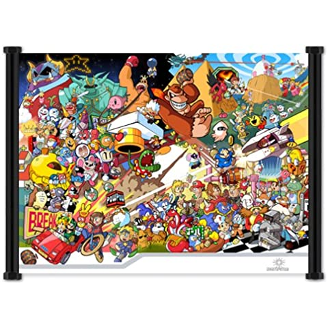 Nintendo Wii Virtual Console Videogame Fabric Wall Scroll Poster (21