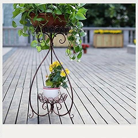 Francese europeo multistrato in ferro battuto piante Spider cornice verde idee di moda Living Room interior Pentola di metallo di cremagliere in rame rosso