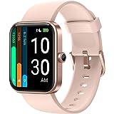 YAMAY Montre Connectée Femme avec Oxymetre Alexa intégré Smartwatch pour Android iOS Podometre Marche Cardiofrequencemetre Mo
