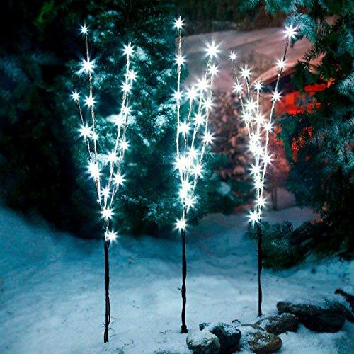 Gärtner Pötschke LED-Leuchtzweige Sternennacht, 3er-Set