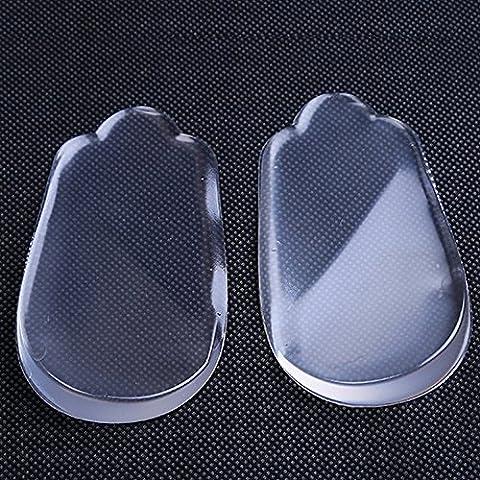 Soumit- Ultra Soffice Comfort Trasparente Unisex di Silicone Pad del Piede, Correzione Piede XO per Alleviare Immediata il Dolore al Tallone e Cura del Piede