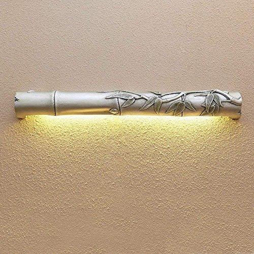 QLL Kreative Harz Wandleuchte Spiegel Schlafzimmer Lampe Spiegel Lampe Badezimmer Wandleuchte...