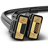 UGREEN VGA Kabel VGA/SVGA Video Monitor Coaxial verlängerungskabel HD mit 2 Ferritfilter/vergoldeten Kontakte/15-polig HD Stecker auf 15-polig HD Buchse Kompatibel für Projektoren , HDTVs , Displays