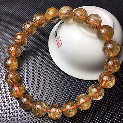 Mayanyan Natürliche 5 A Grade Kupfer Kristall Runde Perle Armband Geschenke für Männer und Frauen (Armband Runde Kristalle)