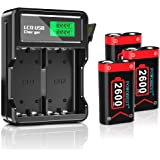 POWOBEST Controller Battery Pack,High-Speed LCD Battery Charger with Rechargeable 3 x 2600mAh Battery Pack,for Xbox Series X/