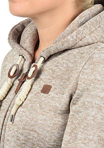 DESIRES Thory Damen Fleecejacke Sweatjacke Jacke Mit Kapuze Und Daumenlöcher, Größe:XXL, Farbe:Dune (5409) - 5