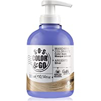 Alama Professional S.O.S. Color & Go Maschera Colorante Anti Giallo per Capelli Naturali, Colorati e con Mèches, Argento…