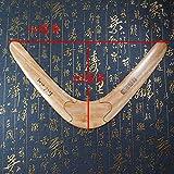 14,6pulgadas alta calidad Gran tamaño 37* 20cm hecho a mano madera Frisbee Boomerang UFO Flying platillo volador Disco
