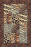 Tapiso Teppich Wohnzimmer Designer Muster Leopard Fell MELIERT BEIGE S - XXL (200x300 cm)
