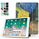 Tnp iPad Pro 10.5 case – ultra sottile leggero Folio Smart Cover con supporto multiangolare, Smart auto Wake/Sleep per Apple iPad Pro 10.5 inch 2017 (Cafe at Night – Van Gogh)