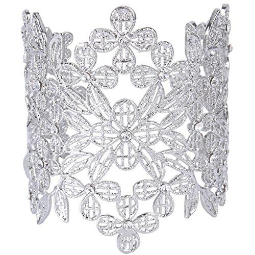 Ever Faith Brillante cristallo fiore del trifoglio