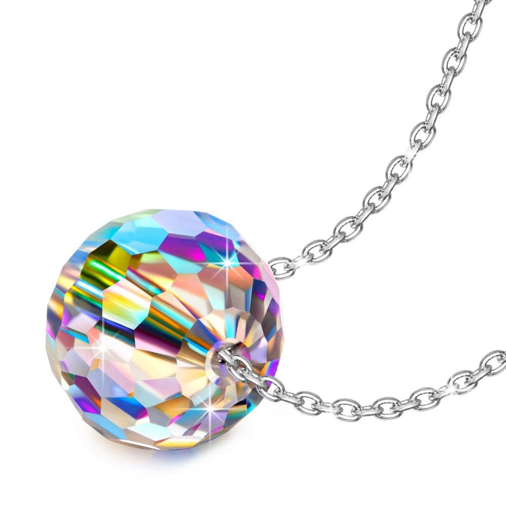 Alex Perry Mundo Fantástico 925 Plata Aurore Boreale Fabricados con Cristales Swarovski Colgante Collar Mujer, Regalo Valentín, Libre de Alérgenos