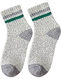 GRHY Otoño/Invierno Mid-Waist College Wind calcetines de lana con pequeños zapatos blancos,un tamaño, Gris 3 pares