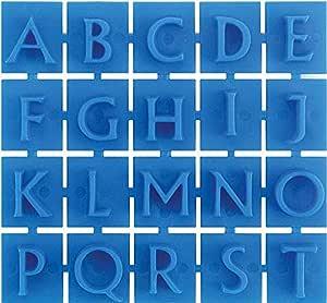 Midwest Produkte Kunststoff Stone stamps-traditional Style Buchstaben und Zahlen