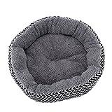 Estink Round Pet Bed für Katzen und Hunde, weich warm waschbar Premium Hund und Katze Bett Self-Warming Lounge Sleeper(M-grey)