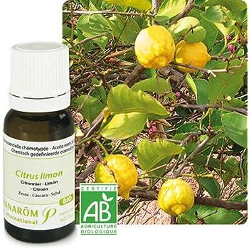 Pranarom - Huile essentielle citron zeste bio - 10 ml huile essentielle citrus ladaniferus