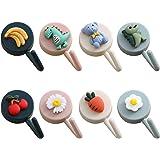 Heiqlay Sleutelhaken zelfklevende haken decoratieve haken, schattig fruit, dieren, groenten patroon muurbevestigingen, haken,