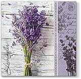20 Servietten Frischer Lavendelstrauß / Lavendel / Blumen 33x33cm