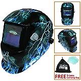 Leopard LEO-WH86 Solarbetriebene + Automatische Verdunkelung + Schleiffunktion + 9-13 Schatten Schweißhelm Maske mit 5 Kostenlosen Ersatzlinsen (Blitz)