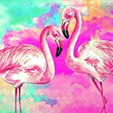 Servietten, Flamingo-Design, 3-lagig, 20 Stück