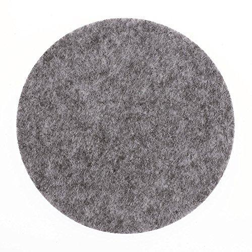 NEU Filz Untersetzer, grau, 6 St., Rund 10×0,3cm