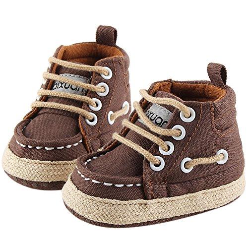 Fire Frog  Baby Indoor Shoes, Baby Jungen Lauflernschuhe Braun