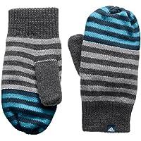 Adidas Stripy Mittens Mitones, niños, Gris-(brgros/brebas / azunoc), M