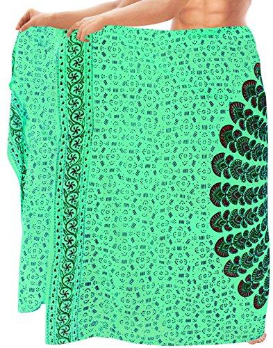 Wrap verschleiern Frauen Bademode swimwear Kleidrock Badeanzug Sarong Meeresgrün