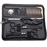 Purple Dragon Haarschere 5,5Zoll Profi Friseurschere Friseurscheren set perfekt Haarschnitt für Damen und Herren Sharfe…
