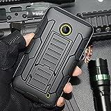 Nokia Lumia 520 Coque, Cocomii Robot Armor NEW [Heavy Duty] Premium Belt Clip Holster Kickstand Shockproof Hard Bumper Shell [Military Defender] Full Body Dual Layer Rugged Cover Case Étui Housse Nokia (Black)