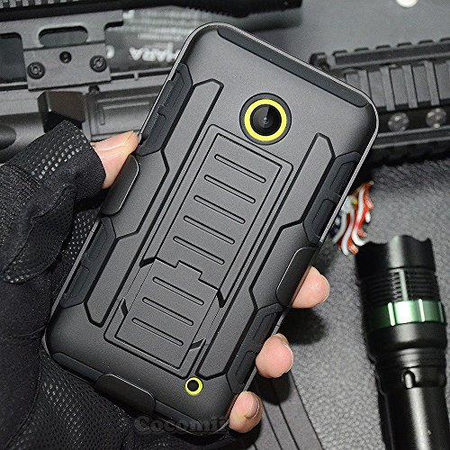 Nokia Lumia 520 Hülle, Cocomii Robot Armor NEW [Heavy Duty] Premium Belt Clip Holster Kickstand Shockproof Hard Bumper Shell [Military Defender] Full Body Dual Layer Rugged Cover Case Schutzhülle Nokia (Black) (520 Nokia Silicon Case)