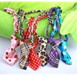 Pets Empire Dog Collar Cat Teddy Pet Puppy Toy Grooming Bow Tie Necktie Clothes- 1 Piece Color May Vary