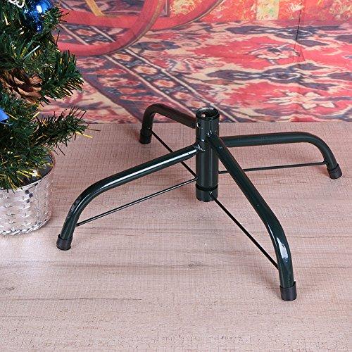 Demiawaking 4 Füße Metall Grün Weihnachten Weihnachtsdekor Baum Basis Halter Unterstützung Regal Rack