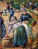 Toperfect 50€-2000€ Handgefertigte Ölgemälde - Kartoffel-Markt Boulevard des Fosses Pontoise 1882 Camille Pissarro Gemälde auf Leinwand Kunst Werk Ölmalerei - Malerei Maße08