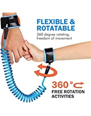 LifeKrafts Anti Lost Wrist Link, Blue 2 Meter for Baby & Kids Safety Wrist Link Toddler Safety Harness Child Safety Wrist Feel Safe in Busy Roads, Shopping Malls Grocery Stores or Kid Carnival Places