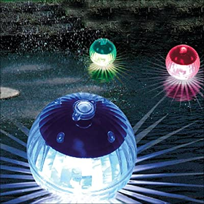 Solar LED Schwimmkugel - Schwimmleuchte 4er Set von Relaxdays bei Lampenhans.de