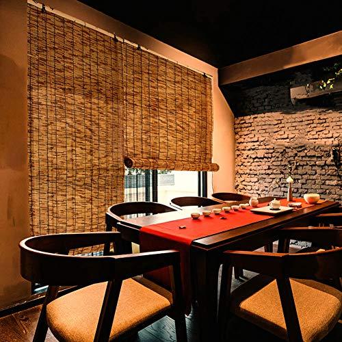 Bambusrollo - Natürliche Schilf Rollläden, Vorhänge - Rollos, Wasserdicht/Sonnenschutz, Geeignet Für Den Außenbereich/Balkon, Anpassbare Größe (Tür-fenster-vorhang-24 X 36)