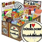 I love Düsseldorf | 24x Allerlei | Geschenkset | I love Düsseldorf | inkl Markenbuch | Ostalgie Geschenkset | Geschafft endlich Abitur | mit Liebesperlen, Viba, Pfeffi Stangen und mehr