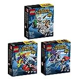 LEGO DC Super Heroes 3er Set Mighty Micros 76068 76069 76070 Superman vs Bizarro + Woman vs Doomsday + Batman vs Killer Moth