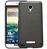 Hello Zone Exclusive Dotted Design Soft Back Case Cover Back Cover For Micromax Q391 Canvas Doodle 4-Black