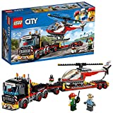 LEGO 60183 City Great Vehicles Heavy Cargo Transport Playset, Toy Truck and Helicopter, Construction set for Kids