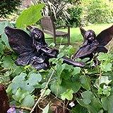 Helecho y Ffion Fairies, adorno de jardín, gnomo, jardín de hadas, Troll, Imp