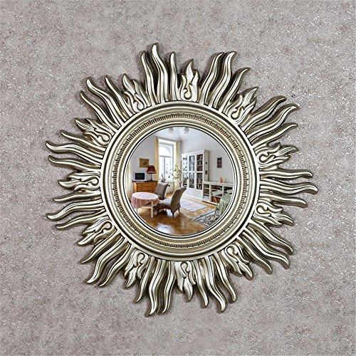 Continental pu occhiali da sole ktv hotel parrucchiere aderente decorativo specchio specchio camino parete a specchio ,86*86cm soggiorno
