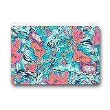 Dalliy Bunte Muster Blume Fu?matten Doormat Outdoor Indoor 23.6