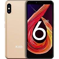 Smartphone ohne Vertrag KXD 6A Günstige 3G-Android-Smartphone 5,5-Zoll-Vollbild 8GB ROM (64GB Erweiterbar) Face ID 2500…