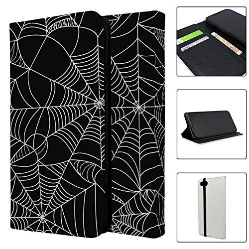 Halloween Spider Web Muster Full Flip Case Schutzhülle für für Apple iPhone 8–S4029