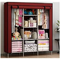 BDMP 6+2 Layer Fancy and Portable Fordable Collapsible Closet/Cabinet (Need to Be Assembled),(Brown)