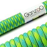 Ganzoo Paracord 550 Seil für Armband, Leine, Halsband, Nylon-Seil 30 Meter, grün
